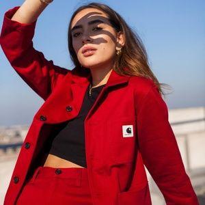 Red Carhartt WIP Menson Jacket Chore Coat